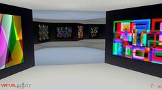 Un ejemplo interesante es Virtual Gallery, que desde 2011 ofrece a los artistas que se registran en su web un área expositiva. Este site se presenta como un espacio tridimensional parecido a una sala de exposiciones con pentágonos en el suelo, los cuales permiten al usuario navegar por la sala. Al clicar en una obra, se despliega la información del cuadro y la posibilidad de comprarlo si se está registrado. Virtual Gallery es gratuito.