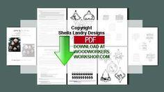 48-SLD303 - Christmas Carol Silhouette Ornaments Set of 10 Scrollsaw Patterns PDF