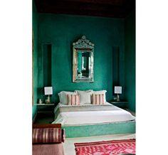 Guest room at Riad El Fenn Hotel in Marrakech, Morocco:  Escale arty à Marrakech: Le Riad El Fenn http://www.vogue.fr/voyages/adresses/diaporama/le-riad-el-fenn-escale-arty-a-marrakech/15883