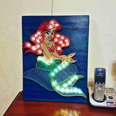 | красотка | Ариэль | stringart | ночник | русалочка | mermaid | Ariel |