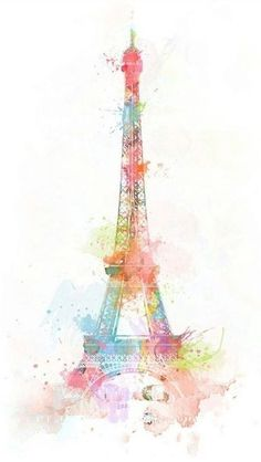 Water color painting of Eifel Tower    ...BTW,Please Check this out:  http://artcaffeine.imobileappsys.com