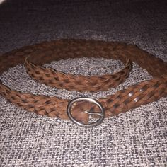 """Festival Rustic Cowboy Look Leather and Suede Belt This belt has a rustic """"worn"""" look to it. Suede in some areas, shiny leather look in other areas, dark brown and light brown spots all make this belt look authentically boho. Belt can be buckled at any spot in the weave and can be worn at the waist or at the hips! Looks so cute over maxi dresses for the perfect festival flare. NOT Free People, just listed as for exposure. None of my prices are firm so feel free to make an offer and bargain…"""