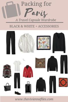 A travel capsule wardrobe for a winter trip to Paris, France