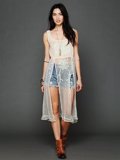 Free People Simply Sheer Embroidered Maxi, $168.00