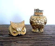vintage lighter hidden inside owl figurine. so cute!