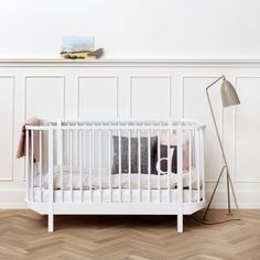 Oliver Furniture Babybett Wood Weiss 70 x 140 cm,Babybetten, Oliver Furniture - SNOWFLAKE kindermöbel concept store