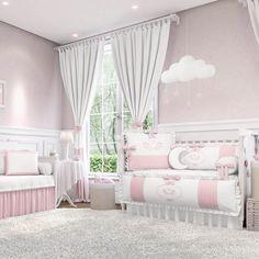 O Quarto de Bebê Anjo Rosa é uma delicadeza para a decoração de quarto de bebê rosa! O ambiente angelical que você sempre sonhou para sua menina!