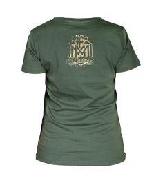 Damska koszulka 'Logo' khaki - tył ---> Streetwear shop: odzież uliczna, kibicowska i patriotyczna / Przepnij Pina!