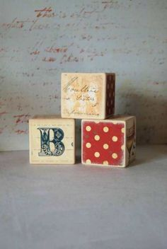 Personalized Large Building Blocks ABC  Set Of 3 by Mmim on Etsy, $19.00