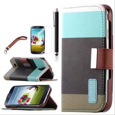 SAMSUNG GALAXY S4 CASE, LEATHER WALLET TYPE MAGNET DESIGN FLIP COVER (MULTI BLACK) | #cellphonegadgets #mobileaccessories www.kuteckusa.com
