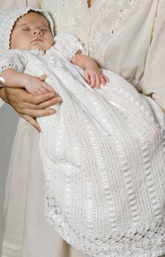 crochet Heirloom Baby Christening Set ~ free pattern