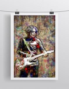 Jack White Poster, Jack White of The White Stripes Gift, Jack White Co                      – McQDesign