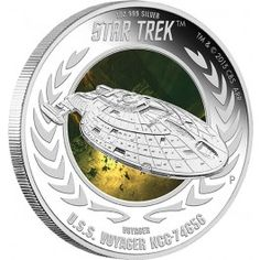 2015 Star Trek U.S.S. Voyager NCC-74656 1oz Silver Proof Coin