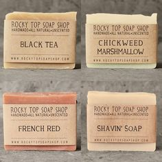 Homemade soaps always feel so luxurious no matter how simple they look (and these are lovely)