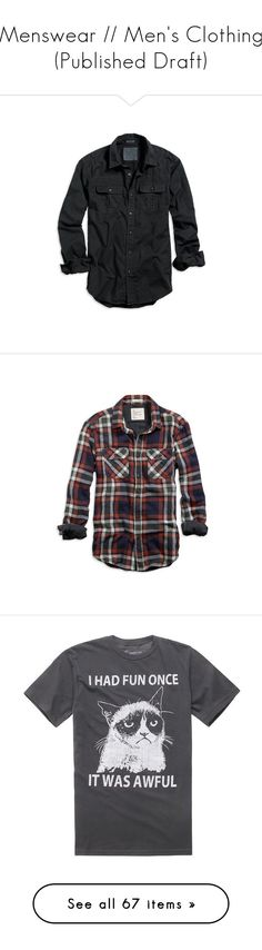 """""""Menswear // Men's Clothing (Published Draft)"""" by breadwineroses ❤ liked on Polyvore featuring men's fashion, men's clothing, men's shirts, men's casual shirts, men, tops, shirts, menswear, clothing & accessories and mens long sleeve shirts"""