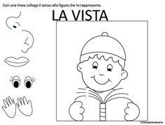 I cinque sensi – Maestramaria Sticker Chart Printable, Halloween 5, Visual Dictionary, African Art, Kids Learning, Coloring Books, Preschool, Comics, Health