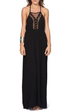Crushing on this cute and trendy maxi dress with airy crochet details for a go-to warm weather look.