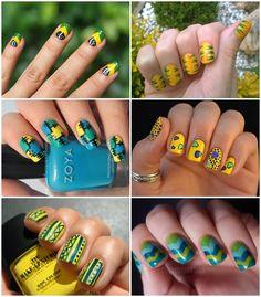 unhas - nail - copa - brasil - unhas decoradas - nailart