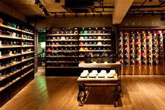 New Era flagship store, Tokyo New Era Store, Diy Hat Rack, Cap Store, Store Plan, Retail Merchandising, Retail Interior, Home Room Design, Closet Designs, Modern House Plans