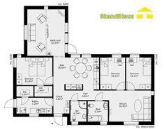 Schwedenhaus SkandiHaus 1-geschossig 120 Grundriss 120-7