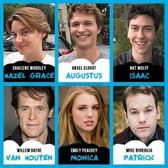 Cast of tfios movie!!