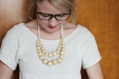 Cute wood beaded necklace :)