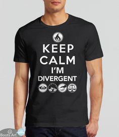 Geek Keep Calm T-Shirt for fans of Divergent movies and books. If you love the Divergent series, you'll love this tee.
