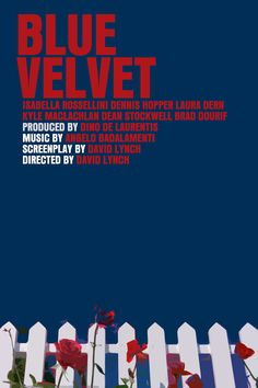 Lynch Movie Poster Set Blue Velvet / Wild At Heart by FunnyFaceArt