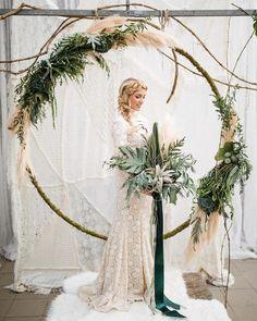 gorgeous ceremony wreath
