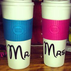 Mr and mrs disney traveler mugs for our honeymoon ❤☕