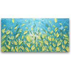 Vous recevrez ce tableau exact, pas une reproduction. Fine art contemporain par Susanna. Les fleurs expressionnistes abstraits, tulipes jaune et bleu paysage moderne couteau empâtement peinture à l'huile.    « Fleurs de soleil » -Dimensions : 48 x 24 x 3/4 Galerie arrière enveloppé de toile étirée, noir peint les bords-câblé et prêt à accrocher -Medium : huile -Couleurs dominantes : jaune, blanc, bleu, aqua vert -Signé sur lavant et en arrière par moi -Cette oeuvre a été créée avec un…