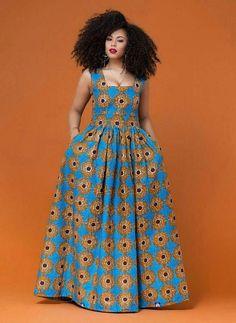 Dee africain impression robe africaine africaine vêtements #AfricanOutfitIdeas #AfricanFashion