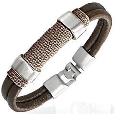 Design your own photo charms compatible with your pandora bracelets. Brown Leather Modern Surf Bracelet For Men Men's Jewellery Bracelets For Men, Fashion Bracelets, Jewelry Bracelets, Bangles, Pandora Bracelets, Collar Hippie, Bracelet Cuir, Leather Men, Brown Leather