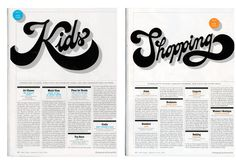 Typography for a special issue of New York Magazine by Triboro, New York