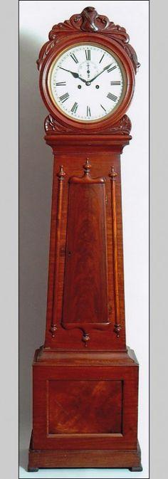 An unsigned tall case clock of Scottish origin, Glasgow.