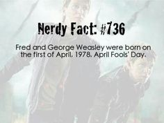 Fred and George birthday