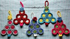 homemade@myplace: Make it ! Christmas tree decorations !!!...Easy for beginners,and a free tutorial and pattern!!