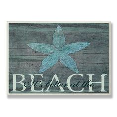 It's Better at the Beach Starfish Wall Plaque   Overstock.com Shopping - Great Deals on Accent Pieces