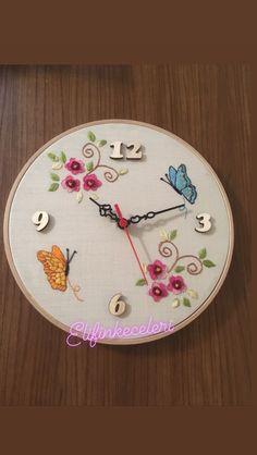 Clock, Embroidery, Wall, Home Decor, Watch, Walls, Interior Design, Clocks, Drawn Thread