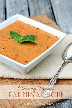 I love soup weather! Especially when I find an easy, delicious soup recipe like this Creamy Tomato Parmesan Soup. It takes about 30 minutes from start to finish, and my whole family loved it--even ...