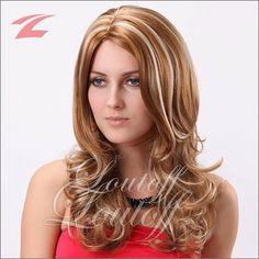 ZNL NEU Perücke Wig Haar Braun+ Blond Lang Gelockt ZL983-27H613