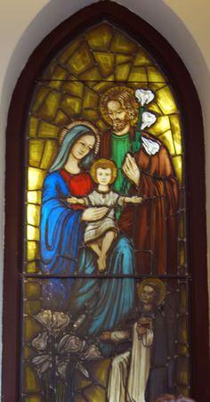 Stained Glass windows at St Thomas Aquinas Catholic Church in Brooklyn, NY