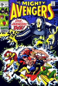 The Avengers. Ultron up to no good, as usual. Sal Buscema cover. #Ultron #Avengers #SalBuscema