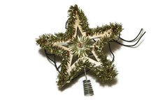 Sale Vintage Gold Star Tree Topper Tinsel by verykitschychristmas Christmas Tree Star, Christmas Ornaments, Gold Star Tree Topper, Vintage Christmas Tree Toppers, Tinsel Tree, Gold Stars, Kitsch, Vintage Fashion, Decoration