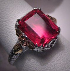 I've been looking for a ruby ring as long as I can remember and can never find any I like! This one is beautiful tho!