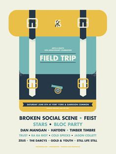 Field Trip Poster by Ross Proulx