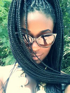 #protectivestyle #natural #box #braids #black #long #medium #myblackisbeautiful #Ab #kyx