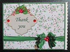 Christmas Thank You Card Topper with Insert and Decoupage by Davina Rundle I printed on to matte photo paper. I made a side fold A6 card, mounted the topper and layered. Trimmed the opening edge with a scallop blade and finished the card with red gems and the insert. A very pretty way to say thank you.