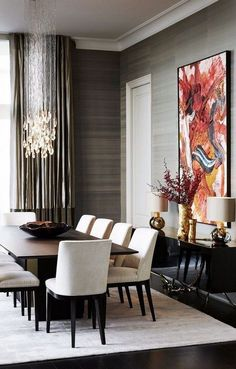 Best Contemporary Dining Room Design Ideas - Kitchen - Info Virals - New Fashion and Home Design around the World Dining Room Walls, Dining Room Sets, Dining Room Design, Dining Room Furniture, Room Chairs, Office Chairs, Dining Chairs, Room Interior Design, Home Interior