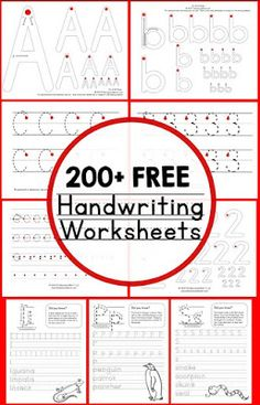 Teaching Handwriting Print these free printable handwriting worksheets for kids in preschool, kindergarten, and early elementary! Improve penmanship with a huge variety of worksheets. Free Handwriting Worksheets, Teaching Handwriting, Kindergarten Handwriting, Free Worksheets, Tracing Worksheets, Handwriting Practice Free, Handwriting Worksheets For Kids, Writing Practice Worksheets, Learn Cursive